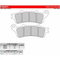 FDB2075P Тормозные колодки дисковые MOTO, блистер 2 шт