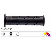 01686/SSF грипсы 2шт ROAD GRIPS HONDA BLACK SOFT OPEN L.120mm