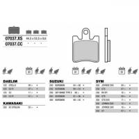 07037 колодки тормозные МОТО(FDB2085)