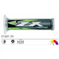 01687-ZX грипсы 2шт ROAD GRIPS KAWASAKI ZX RACING MEDIUM OPEN L.125mm