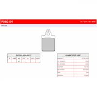 FDB2100S Тормозные колодки дисковые MOTO, блистер 2 шт