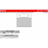 FDB108ST Тормозные колодки дисковые MOTO, блистер 2 шт