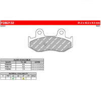 FDB2132EF Тормозные колодки дисковые MOTO, блистер 2 шт