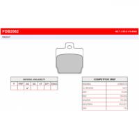 FDB2062EF Тормозные колодки дисковые MOTO, блистер 2 шт FDB2062AG