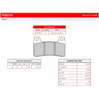 FDB2181XRAC Тормозные колодки дисковые MOTO, блистер 2 шт