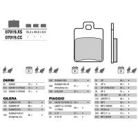 Brembo 07019 колодки тормозные МОТО(FDB2057)
