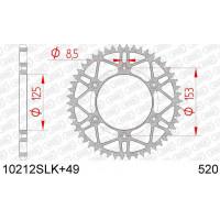 10212SLK+49 звезда задняя (ведомая) стальная, самоочищающаяся, облегченная, 520, AFAM (JTR210.49)
