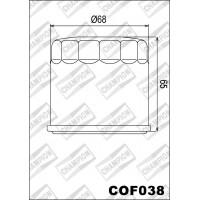 COF038 фильтр масляный МОТО (зам.K301)