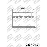 COF047 фильтр масляный МОТО (зам.F307)