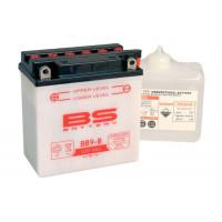 BB9-B Аккумулятор BS , 12В, 9 Ач 135x75x139, прямая ( +/- ), (YB9-B)