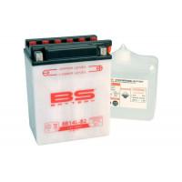 BB14L-B2 Аккумулятор BS , 12В, 14 Ач 134x89x166, обратная ( -/+ ), (YB14L-B2)