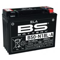 B50N18L-A/A2 (FA) Аккумулятор BS SLA, 12В, 21 Ач, 350 А 205x87x162, обратная ( -/+ ) (Y50-N18L-A)