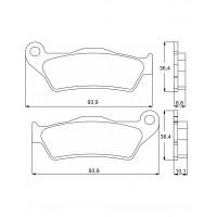 AGPP97OR Тормозные колодки Accossato Organic (FRP2039)