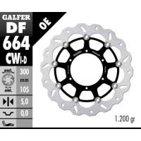 Лепестковый плавающий тормозной диск Galfer DF664CWD/I направленный