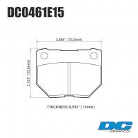 Колодки тормозные DC0461E15 DC Brakes RT.2 задние SUBARU Impreza WRX