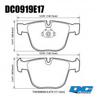 Колодки тормозные DC0919E17 DC Brakes RT.2 задние BMW 5 (E60), M3 (E92), M5, (E63), 7 (E65, E66)