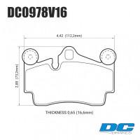 Колодки тормозные DC0978V16 DC brakes Street STR.S, задние PORSCHE Cayenne (955); Audi Q7 / Touareg