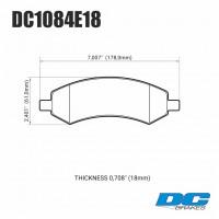 Колодки тормозные DC1084E18 DC brakes RT.2, перед DODGE RAM 1500, DURANGO