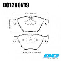 Колодки тормозные DC1260V19 DC brakes Street STR.S; передние BMW E90,91,92, 335i, M3 E90, E60, E63 (HB551)