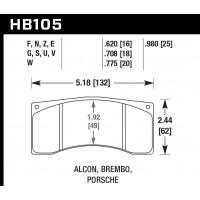 Колодки тормозные HB105Z.620 HAWK Perf. Ceramic
