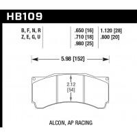 Колодки тормозные HB109Z.710 HAWK Perf. Ceramic PROMA 6 порш. TM 6.355 / ALCON TA-6, XR-6/AP RACING