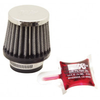 RC-0790 Воздушный фильтр нулевого сопр. d35 D64 H57 конус, хром