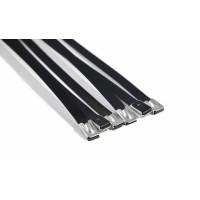 """Хомуты 6 шт. для трубы до 90 мм (3,5"""") 8 мм*30 см, нерж. сталь, черные, Thermal Division TDCL106B"""